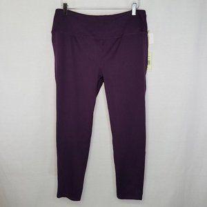 Tangerine XXL purple crop capri yoga leggings